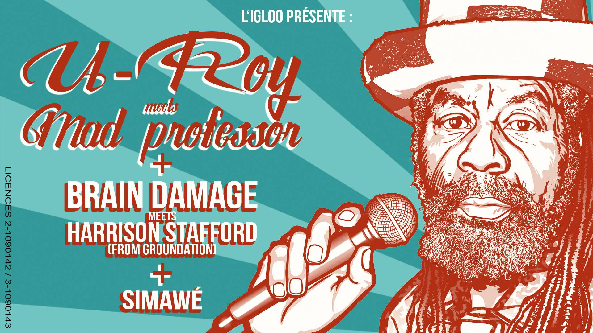 U-Roy & Mad Professor, Brain Damage & Harrisson Stafford, Simawe